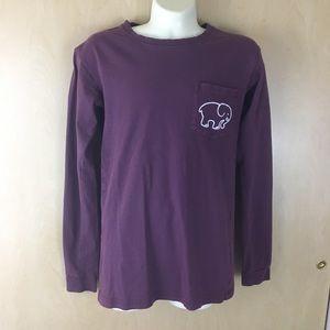 Ivory Ella Elephant Purple Long Sleeve Shirt XXS